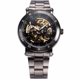 List Price Men S Classic Skeleton Gunmetal Stainless Steel Automatic Mechanical Sport Watch Pmw210 Intl Oem