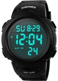 Sale Men S Digital Sports Watch Led Screen Large Face Military Watches And Waterproof Casual Luminous Stopwatch Alarm Simple Army Watch Black Intl Oem On China