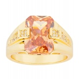 Brand New Mens Fashion 18K Yellow Gold Plated Topaz Zircon Pinky Ring Us Size 8 15 Intl