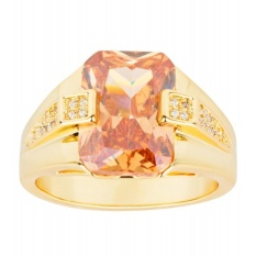 Best Buy Mens Fashion 18K Yellow Gold Plated Topaz Zircon Pinky Ring Us Size 8 15 Intl
