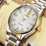Purchase Men S Fashion Watch Automatic Waterproof Hollow Men Business Wristwatch White Dial Intl