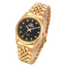 Price Men S Golden New Clock Gold Fashion Watch Full Gold Stainless Steel Quartz Watches Wrist Watch Wholesale Gold Watch Cx 004A Black On China