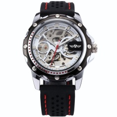 Sale Men S Skeleton Automatic Mechanical Black Silicone Band Sport Wrist Watch Pmw081 Intl