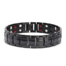 Mens Titanium Super Strong Anion Magnetic Therapy Bracelet Bio 4 In 1 Arthritis - Intl By Freebang.