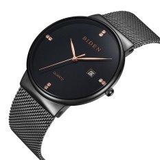 Price Mens Womens Unisex Waterproof Simple Casual Analog Quartz Dress Wrist Watch With Black Mesh Bracelet Intl On China