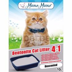 Compare Price Meow Meow Bentonite Cat Litter 4In1 Unscented 10L On Singapore