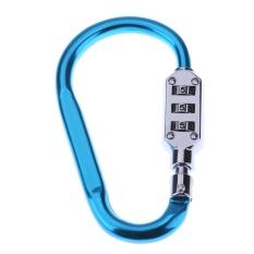 Metal Handy Helmet Lock Combination Outdoor Climbing Gear 3 Digit Code(blue) - Intl By Rainbowonline.