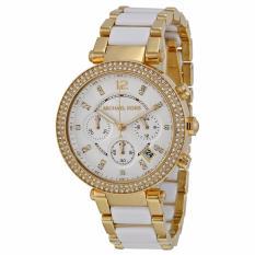 Michael Kors Gold Tone Acetate Parker Watch Mk6119 Lower Price