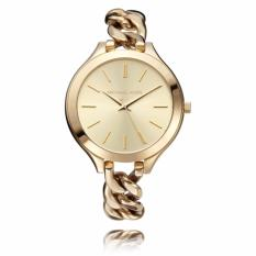 Discount Michael Kors Ladies Slim Champagne Dial Twist Runway Watch Mk3222