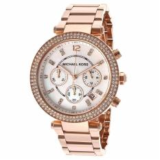 Sale Michael Kors Women S Rose Gold Mother Of Pearl Dial Watch Mk5491