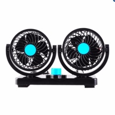 Sale Mini Electric Car Fan Low Noise Strong Wind Automobile Fan Black Intl Oem On China