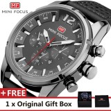 Buy Mini Focus Top Luxury Brand Watch Famous Fashion Sports Cool Men Quartz Watches Calendar Waterproof Leather Wristwatch For Male Mf0005G 03 Fz1 Intl Cheap China
