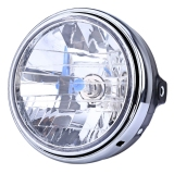 Sale Minicar 12V Motorcycle Crystal Round Headlight Modified Headlamp Assembly For Honda Bumblebee Cb400 900 Color Silver Intl Oem On China