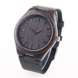 Where To Shop For Miyota Citizen Unisex Bamboo Wooden Watch Quality Dermis Leather Strap Quartz Watches Stylish Round Dial Wrist Watch Women Ladies Man Watch Luxury Watch Intl