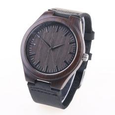 Where To Buy Miyota Citizen Unisex Bamboo Wooden Watch Quality Dermis Leather Strap Quartz Watches Stylish Round Dial Wrist Watch Women Ladies Man Watch Luxury Watch Intl