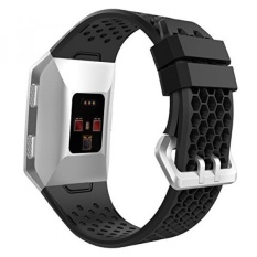 Where To Buy Moko Fitbit Ionic Bands With Fastener Ring Soft Silicone Perforated Adjustable Replacement Sport Strap For Fitbit Ionic Smart Watch 9 05 All Black Intl