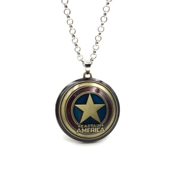 Movie/Film The Avenge Capital America Shield LOGO Alloy Pendant Necklace Souvenirs Gifts