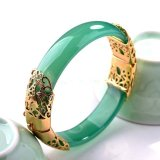 Mstore New Natural White Red Green Agate Hollow Alloy Fashion Women Jade Jewelry Bracelet Bangles Intl For Sale Online