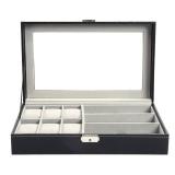 Brand New Multi Functional Watch Display Storage Box Sunglass Holder Organizer Black Intl