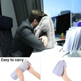 Get The Best Price For Multifunction Inflatable Air Travel Pillow Airplane Office Desk Nap Pillow Grey Intl