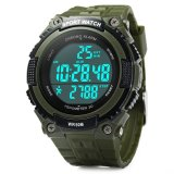 Where Can You Buy Multifunctional 3D Pedometer Tracker Sports Fitness Watches Men Digit Watch Led Dive Military Wristwatch Army Green Export Intl