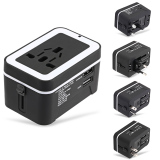Who Sells The Cheapest Multipurpose Travel Adapter Dual Usb Universal Ac Socket Black Online