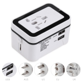 Deals For Multipurpose Travel Adapter International Plug Dual Usb Charging Port Universal Ac Socket