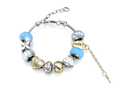 Deals For Mylady Charm Bracelet Blue Crystals From Swarovski®