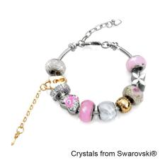 Store Mylady Charm Bracelet Pink Crystals From Swarovski® Her Jewellery On Singapore