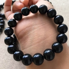 Sale Unisex Natural Black Tourmaline Bracelet China Cheap
