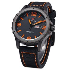 Coupon Naviforce 9039 Men Sports Watch Quartz Wristwatch Day Date Leather Strap