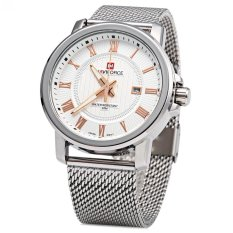 Who Sells Naviforce 9052 Men Quartz Watch Stainless Steel Band Date Display The Cheapest