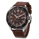 Sale Naviforce 9056 Men Leather Band Quartz Watch 30M Water Resistant Luminous Intl Naviforce Cheap