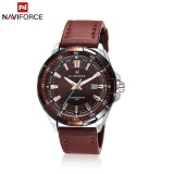 Purchase Naviforce 9056 Men Leather Band Quartz Watch 30M Water Resistant Luminous Intl Online