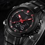 Discounted Naviforce Men Military Hour Sport Quartz Wrist Watch White Silver