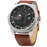 Naviforce Nf 9063M Male Quartz Watch Silver Case Watch Resistance Wristwatch Intl In Stock