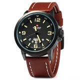 Review Naviforce Nf9028 Men Quartz Watch Analog Wristwatch Date Watches Pu Strap Intl On China