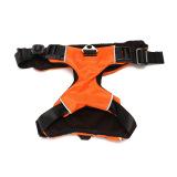 Brand New New Adjustable Reflective Nylon Pet Dog Puppy Harness Vest Collar Walking Safety Orange Large