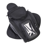 Discount New Black Oil Fuel Tank Bag Magnetic Motorcycle Motorbike Saddle Bag Window Moto Accessory None
