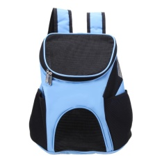 New Breathable Pet Backpack Dog Carrier Bags Portable Travel Bag(blue) - Intl By Crystalawaking.