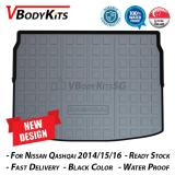 Sale New Design Highquality Nissan Qashqai 3D 2014 18 Waterproof Car Bootliner Boot Tray Cargo Tray Trunk Mat Singapore Cheap