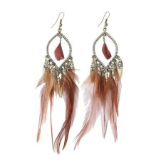 Who Sells The Cheapest New Fashion Charms Vintage Long Earrings Feather Tassel Jewelry For Women Intl Online
