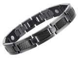 Wholesale New Health Care Energy Magnetic Titanium Bracelet For Men Black Intl