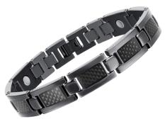 Best Rated New Health Care Energy Magnetic Titanium Bracelet For Men Black Intl
