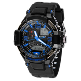 New Multi Function Military Digital Led Quartz Sports Wrist Watch Waterproof Blue Black Promo Code
