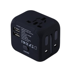 Get Cheap New Universal International Plug Adapter 2 Usb Port World Travel Ac Power Charger Adaptor With Au Us Uk Eu Converter Plug Intl