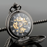 Compare New Vintage Retro Men S Hollow Skeleton Mechanical Quartz Polished Pocket Watch Prices