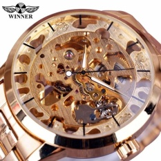 Who Sells The Cheapest New Winner Gold Watch Mens Watches Top Brand Luxury Full Steel Man Clock Skeleton Mechanical Watch Intl Online