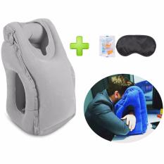 Discount Inflatable Travel Pillow For Airplane Camping Office Nap Rest Neck Pillow With Full Body And Head Inflatable Bolster Car Pillows For Sleeping Bedding Pillows Oem