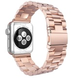 Where Can You Buy Niceeshop Apple Watch Band Solid Stainless Steel Replacement Strap Polished Metal Watchband With Folding Clasp For Apple Watch 38Mm Rose Gold Intl